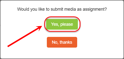 Yes, please button circled