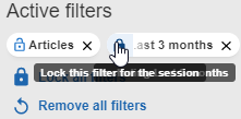 Lock this filter for the session