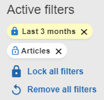 Locked active filter