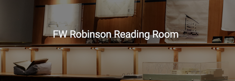 Screenshot of FW Robinson Reading Room page header image