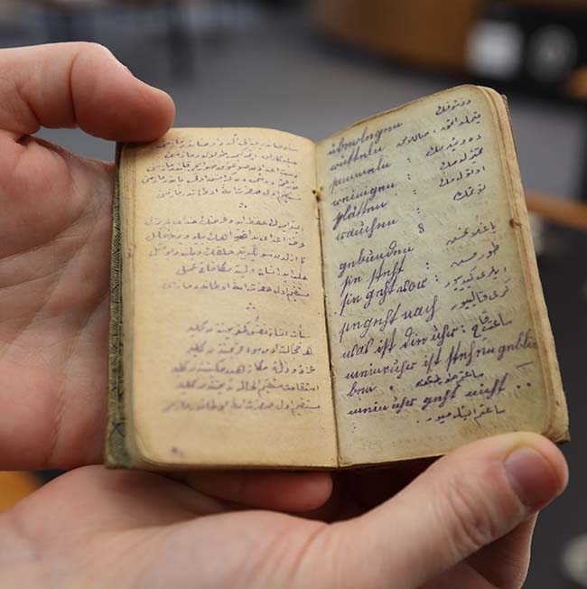 Diary of a Turkish soldier on display