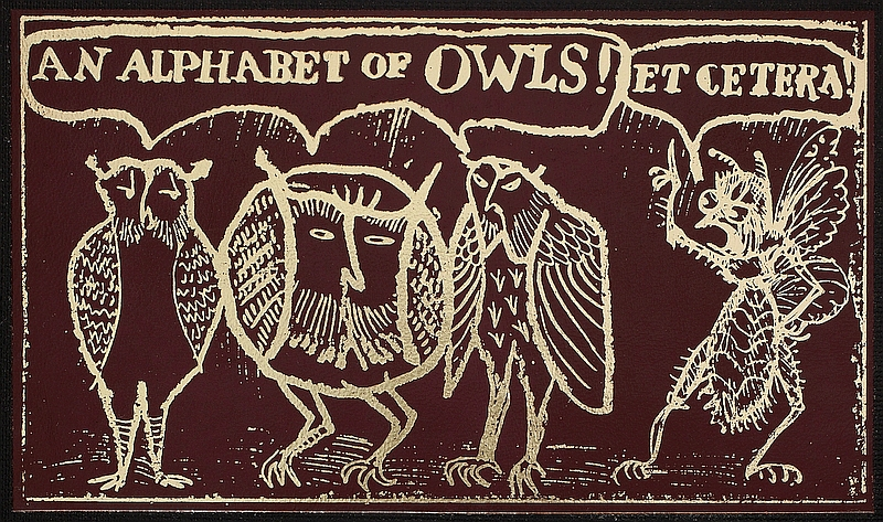 Donald Friend's An Alphabet of Owls (1981)