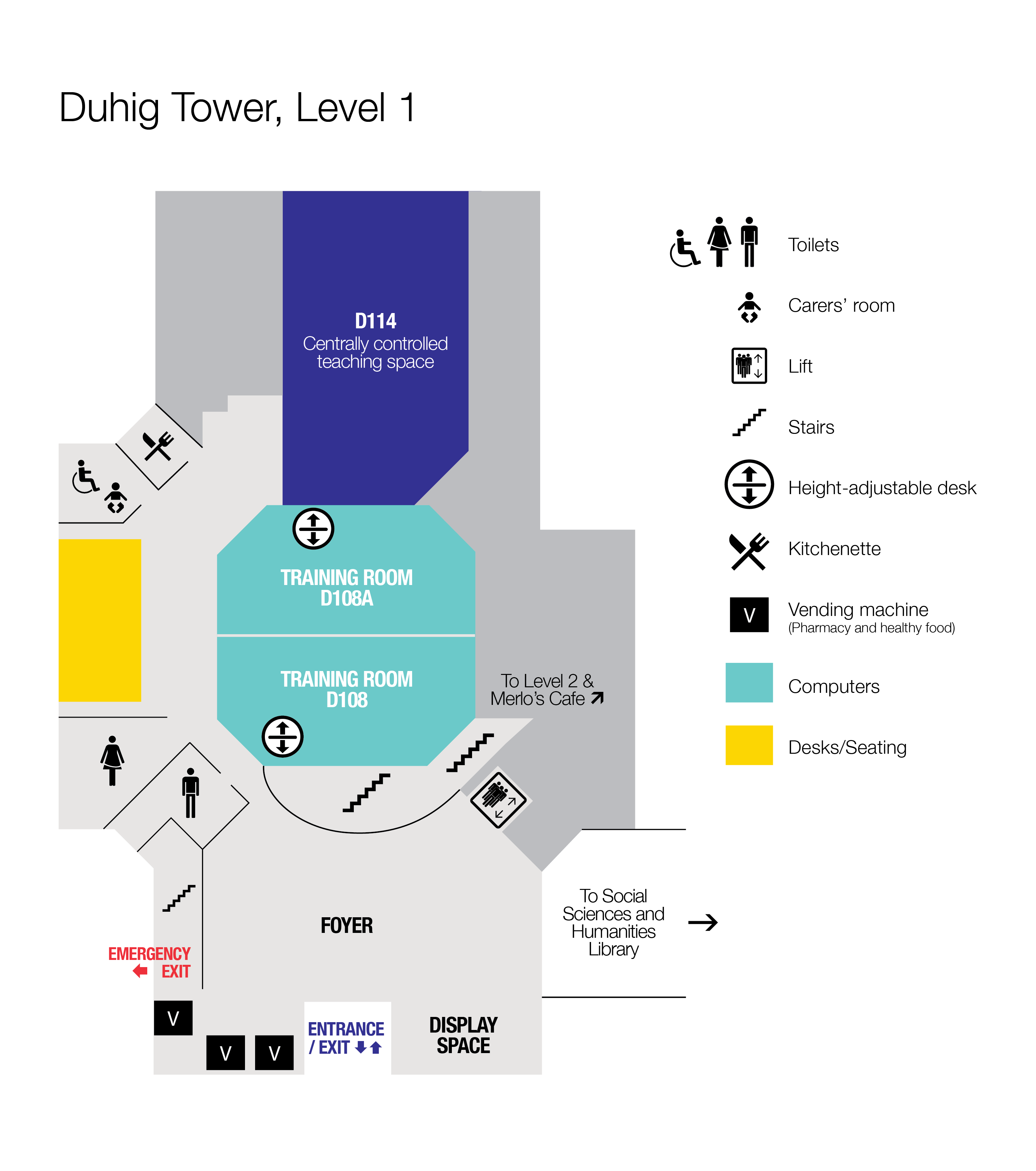 Floor plan Duhig Tower, Level 1