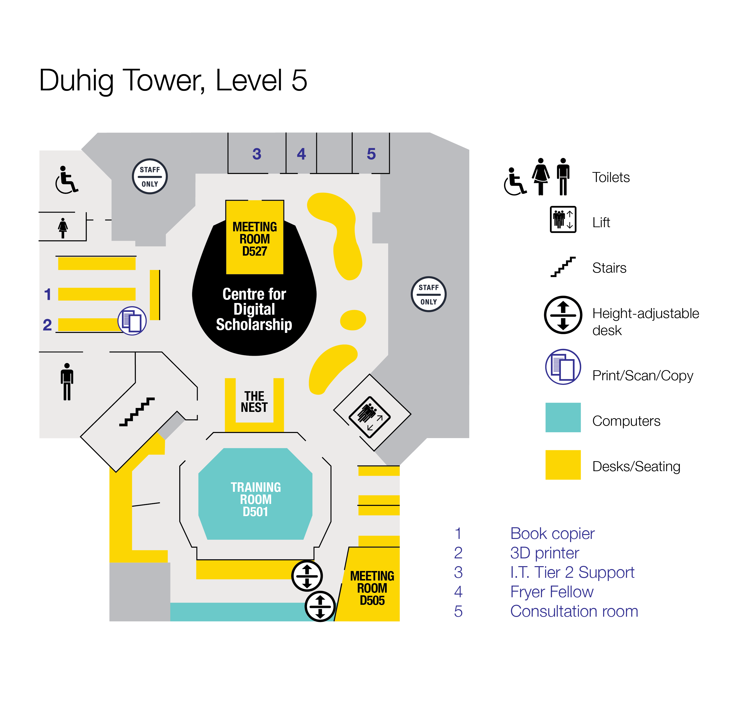 Floor plan Duhig Tower, Level 5