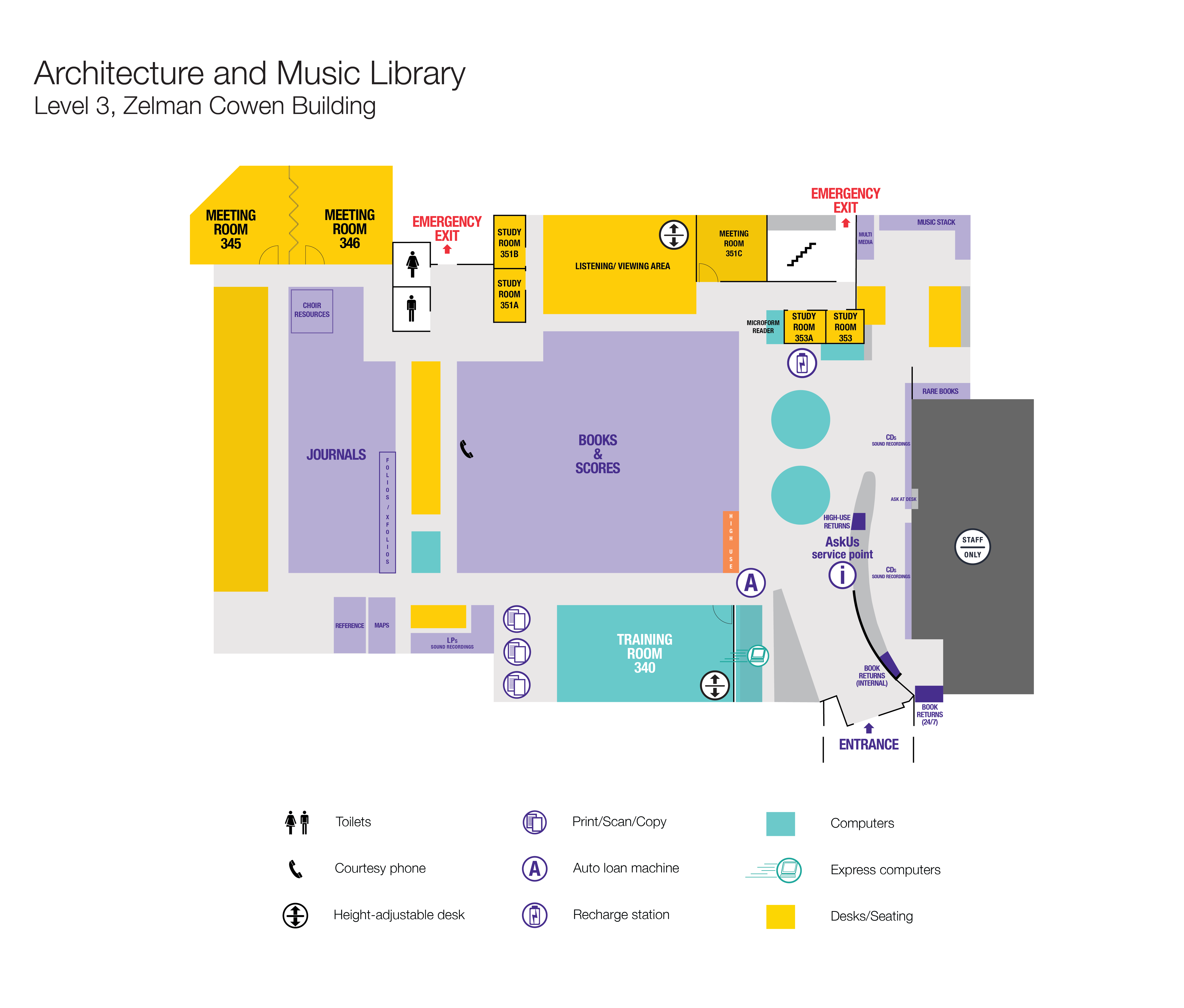Architecture and Music Library floor plan