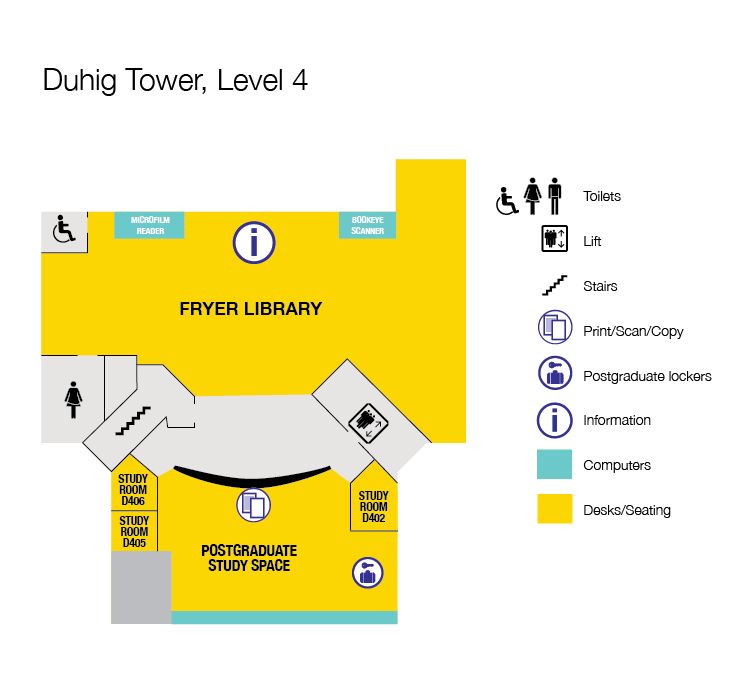 Floor plan Duhig Tower, Level 4