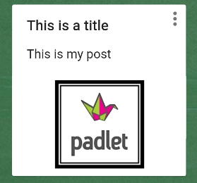 the post is shown