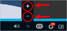 the plus and minus button are highlighted