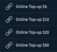 Top-up amount options