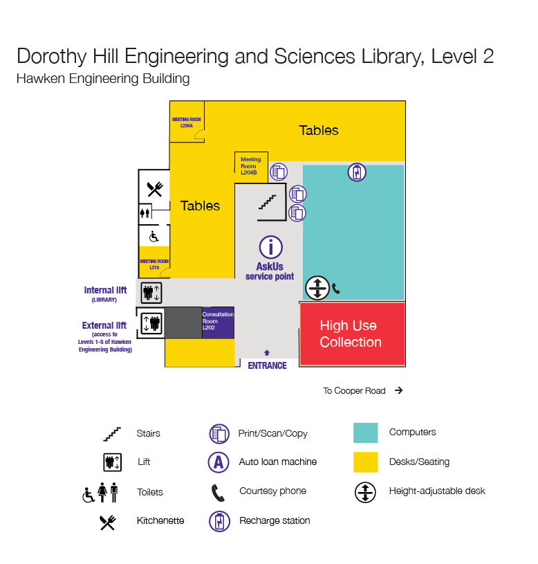 Level 2 Floor plan, Dorothy Hill Engineering and Sciences Library