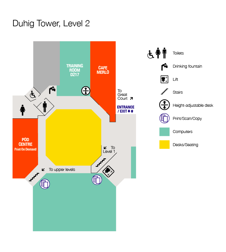 Floor plan Duhig Tower, Level 2