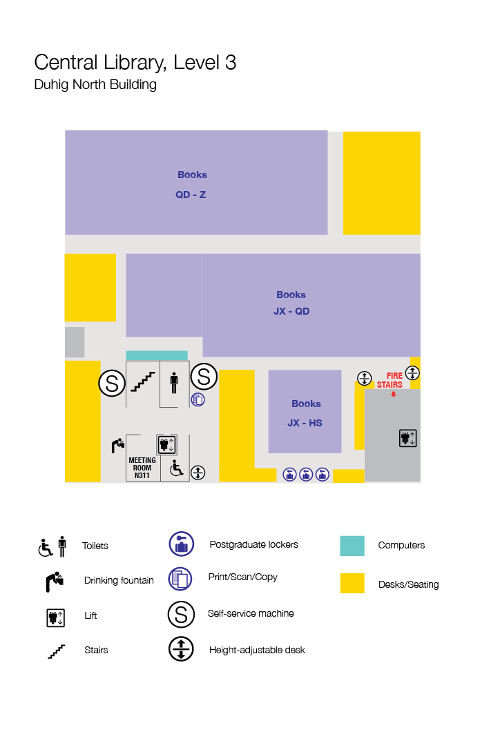 Level 3, floor plan, Central Library
