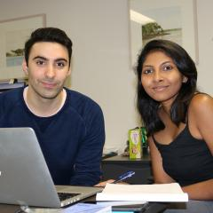 Peter and Rheaa, student partners in 2018 Digital Literacy project.