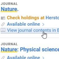 View scholarly journals in Browzine