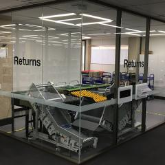 Return chute and book machine, level one, Central Library
